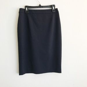 Hugo Boss Navy Vilea Stretch Wool Pencil Skirt, 2